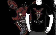 ======= Shirt for Sale ======= Five Nights at Freddy's - Nightmare Foxy - It's Me tshirt by Kaiserin.