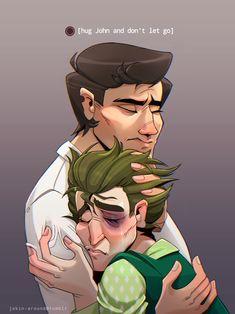 "jokin-around: ""Au where telltale actually lets you f*cking hug john """