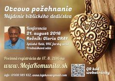 Gloria Gray Slovensko - Konferencia Otcovo požehnanie