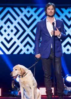 Ian Somerhalder - The World Dog Awards at Barker Hangar on January 10, 2015 in Santa Monica, California.