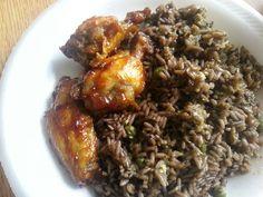 Haitian rice and BBQ chicken!