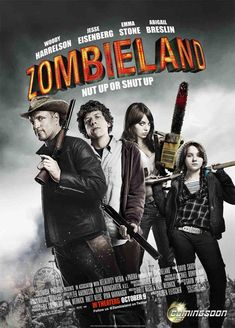Zombieland (From my TBS Board) 11/30/13 Awesome! My fav movie I watched for this challenge and easily in my top fav movies of all time. *DVD Forum Challenge*