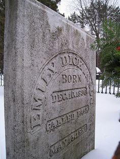 Emily Dickinson Grave Marker Inscription