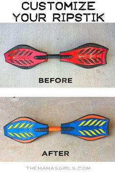 Customize your Ripstik. Brilliant idea especially if you have multiple kids in your home that each own one! Easy Arts And Crafts, Crafts For Kids, Ripstick Skateboard, Caster Board, Home Crafts, Diy Crafts, Sports Games For Kids, Stuff To Do, Cool Stuff