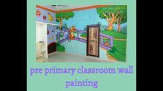 New wall art kinder garden for kids // school classroom wall designs Classroom Walls, School Classroom, 3d Wall Painting, School Cartoon, School Painting, Cartoon Wall, 3d Wallpaper, New Wall, Wall Design