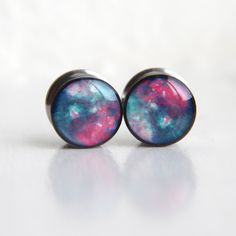 Nebula Gauges Space Ear Plugs Geeky Gauges by FashionPlugs on Etsy, $24.00