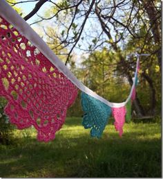 Pretty spring doily garland from Creative Passage