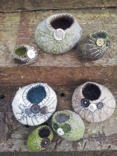 Die 154 Besten Bilder Von Filzen Lampenvasenkatzenhöhlen Wool