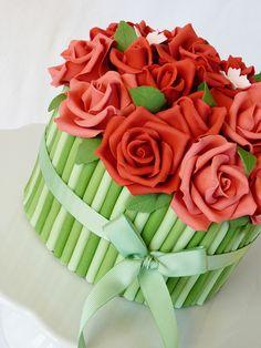 Bouquet rose cake closeup by Mina Magiska Bakverk (My Magical Pastries), via Flickr