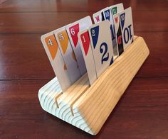 Picture of Wooden Playing Card Holder for Kids wood crafts crafts design crafts diy crafts furniture crafts ideas Kids Woodworking Projects, Wood Projects For Kids, Wood Projects For Beginners, Wood Working For Beginners, Fine Woodworking, Woodworking Patterns, Woodworking Equipment, Woodworking Furniture, Green Woodworking