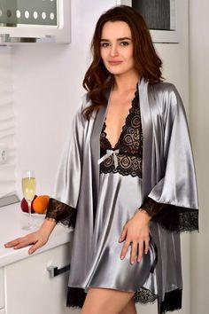 Nouveau Débardeur Femme Corail Contraste Dentelle Satin Wrap Robe de Chambre Taille 10-12