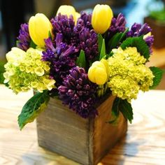 Yellow tulip and purple iris bouquet l2 wedding pinterest stylebook mightylinksfo Gallery