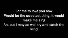 Donovan - Catch The Wind with Lyric  Dick's favorite song