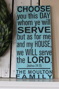 aqua subway art, scripture, Joshua 24:15