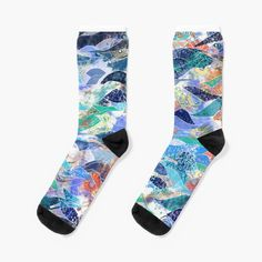 'Ocean waves in abstract color blocks' Socks by Mimipinto Gifts For Your Boyfriend, Tech Gifts, Ocean Waves, Cool Gadgets, John Lewis, Cotton Tote Bags, Chiffon Tops, Socks, Gift Ideas