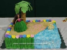 Homemade Luau Birthday Cake: I made this Luau Birthday Cake for my niece's 5th birthday. I got all of the idea's online by searching for pictures of luau cakes. I took ideas I liked