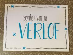 Handlettering kaart voor een collega die met verlof gaat! Ik weet alleen niet of ze een jongetje of meisje krijgt, dus heb ik een roze en blauwe versie :-) Gemaakt naar het voorbeeld van: http://pin.it/palcCHu