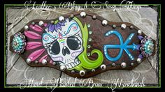 Find me on FB, hand painted bronc nosebands and leather. .