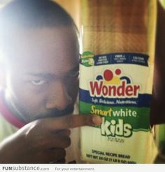 """Hmm... racist bread.  Actually reads: Smart kids. And the """"white"""" was just an unfortunate misplacement."""