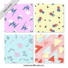 Post-modern pattern collection Free Vector