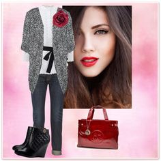A fashion look from October 2014 featuring Vero Moda cardigans, Oscar de la Renta blouses and rag & bone jeans. Browse and shop related looks.