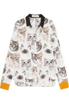 Lumipix Capri Double Image Mens Cat T-Shirt