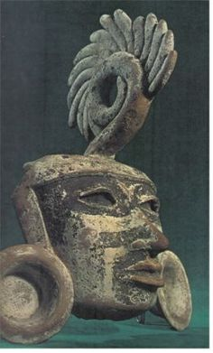 clay mask from Teotihuacan 1B.C - 900 A.D.