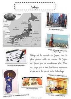 Le Japon et Tokyo Tokyo, Les Continents, Cycle 3, Geology, Montessori, Homeschool, Animation, Culture, Activities