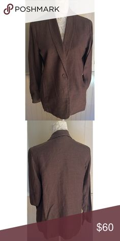 Eileen Fisher Linen Complete Suit Pants are included and come from the set. Both pieces are in brand new condition. A nice spring and summer suit! Eileen Fisher Jackets & Coats Blazers