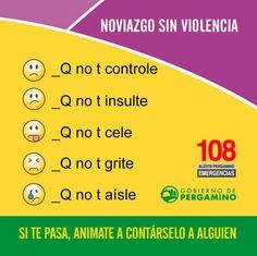 Municipalidad de Pergamino #Pergamino Noviazgo Sin Violencia | Si te pasa, animate a contárselo a alguien