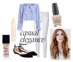 Casual Elegance by rachel-w14 on Polyvore featuring polyvore, fashion, style, Frame Denim, Gianvito Rossi, NARS Cosmetics, L'Oréal Paris, OPI, women's clothing, women's fashion, women, female, woman, misses and juniors