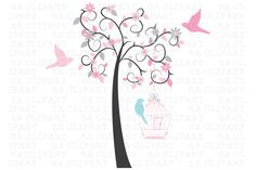 Tree Clipart by SA ClipArt on Creative Market