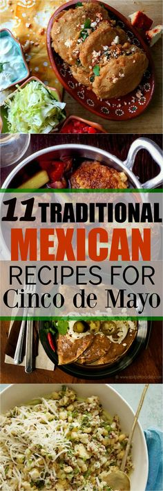 I really love Mexican food. There are a ton of fun recipes for Cinco de Mayo but I want to have a few authentic dishes at my party and these recipes are great!
