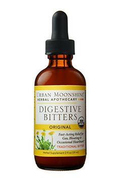 The root of good health is great digestion! Urban Moonshine's certified organic original digestive bitters are a well balanced, aromatic update to traditional formulas. Digestive Bitters, Gentle Detox, Gourmet Recipes, Healthy Recipes, Natural Cleanse, Gum Arabic, Healthy Liver, Eat Healthy