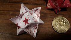 Nikisgarage: Flettede stjernestrimmelstjerner Banker, Paper Strips, Origami Paper, Snowflakes, Paper Crafts, Gift Wrapping, Christmas Ornaments, Holiday Decor, Design
