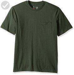Brixton Men's Basic Short Sleeve Pocket Tee, Chive, X-Small - Mens world (*Amazon Partner-Link)