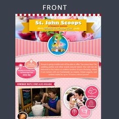 Create a flyer for ice cream flavors and ice cream events by Artist@Joy