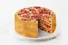 "Behold… the ""Pizza Cake""