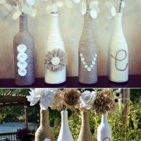 Image Sources: mywisemom , etsy , diycozyhome If you have some empty wine bottles and twine at home then it is the time to turn them into some amazing vase