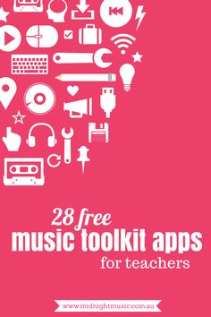 28 Free Music Toolkit Apps for Teachers | by Katie Wardrobe, Midnight Music. This is part 4 of a 5-part series {click through for parts 1, 2 and 3 as well as this one!} http://www.midnightmusic.com.au/2013/12/28-free-music-toolkit-apps/