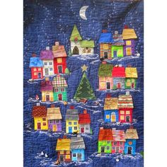 This is it! Advent calendar village. It's all appliqué.