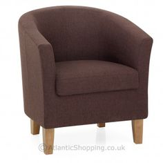 Our Tub Chair Brown Fabric is generously padded for quality comfort. Cosy Corner, Tub Chair, Accent Chairs, Indoor, Autumn, Fall, Brown, Interior, Fabric