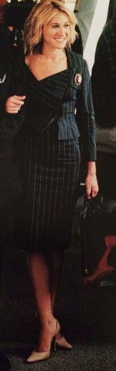 New Tailoring - Fall brings back exaggerated silhouettes and asymmetry à la Carrie's infamous Vogue ensemble. From checks to pinstripes, this look is timeless.