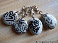 Porte-clés / Cœurs