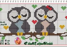 Owl perler bead pattern~ this would be a cute cross stitch for a gift table or guest book table at a wedding! Cross Stitch Owl, Cross Stitch Animals, Cross Stitch Designs, Cross Stitching, Cross Stitch Embroidery, Embroidery Patterns, Cross Stitch Patterns, Owl Patterns, Tapestry Crochet