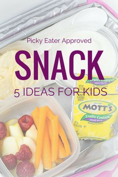 SNACK Ideas for Picky Eaters -   Finding snacks and meals that please both kids and parents can be challenging - especially when you add picky eaters to the mix. To help everyone win at snack time, in this post sponsored by General Mills, Janice gives you 5 tips for fun snacks for kids.