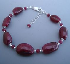 Natural+Ruby+Gemstone+Sterling+Silver+Beaded+by+eedesigns05,+$329.99
