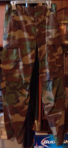 US Army Issued Camo Hunting Pants, Small/Large Cotton Blend, Multi-Color, S, Men…