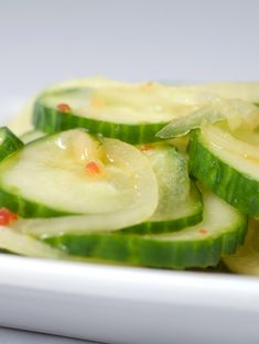 Simple Start - Cucumber Salad with Sweet Thai Chili Vinaigrette Recipe