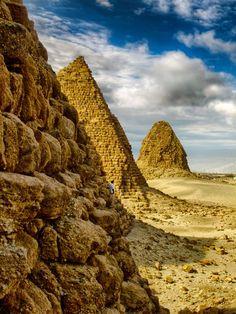 Meroitic Pyramids, Meroë, Sudan
